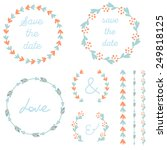 set of hand drawn vector frames | Shutterstock .eps vector #249818125