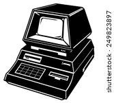 Old Retro Computer. Retro...