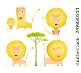 Lion Family Collection Cartoon...