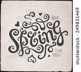 spring hand lettering  ... | Shutterstock .eps vector #249831469