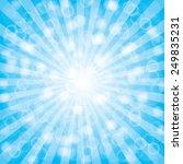 blue  summer sun light burst...   Shutterstock .eps vector #249835231