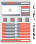 flat web user interface. vector