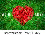 Heart Shaped Group Of Red Chil...
