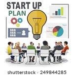 start up launch business ideas... | Shutterstock . vector #249844285