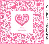 happy valentine's day ... | Shutterstock .eps vector #249848197