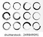 grunge circles.abstract round... | Shutterstock .eps vector #249849091