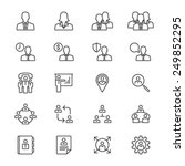 business thin icons | Shutterstock .eps vector #249852295