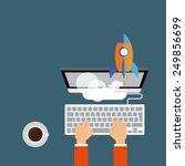 launch   Shutterstock .eps vector #249856699