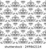 vintage baroque damask seamless ... | Shutterstock .eps vector #249862114