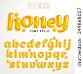 vector latin alphabet made of... | Shutterstock .eps vector #249868027