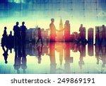 business handshake corporate... | Shutterstock . vector #249869191
