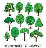 tree illustrations    Shutterstock .eps vector #249869524
