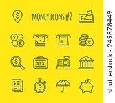 money vector line icons set 2   Shutterstock .eps vector #249878449