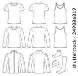 singlet  t shirt  long sleeved... | Shutterstock .eps vector #249886819