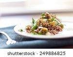 healthy nutty red quinoa salad... | Shutterstock . vector #249886825