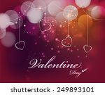 valentines day card vector... | Shutterstock .eps vector #249893101