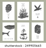 set of six creative cards.... | Shutterstock .eps vector #249905665