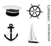 navy vector icon set  luxury ...   Shutterstock .eps vector #249906871
