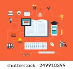 flat design modern vector... | Shutterstock .eps vector #249910399