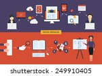 flat design modern vector... | Shutterstock .eps vector #249910405