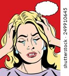 frustrated woman | Shutterstock . vector #249910645