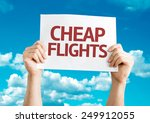 Cheap Flights Card With Sky...