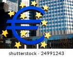 euro symbol in front of the... | Shutterstock . vector #24991243