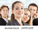 team of successful smiling... | Shutterstock . vector #24991339