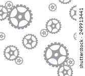silver gears seamless pattern... | Shutterstock .eps vector #249913441