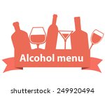 alcohol menu. ribbon with... | Shutterstock .eps vector #249920494