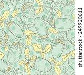 seamless background of oak... | Shutterstock .eps vector #249920611