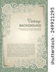 vintage seamless background... | Shutterstock .eps vector #249921295