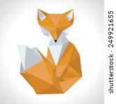 fox made in the style low poly... | Shutterstock .eps vector #249921655