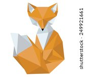 fox made in the style low poly... | Shutterstock .eps vector #249921661