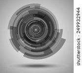 circular pattern of transparent ... | Shutterstock .eps vector #249932944