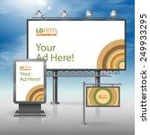color outdoor advertising... | Shutterstock .eps vector #249933295