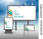 white outdoor advertising... | Shutterstock .eps vector #249937801