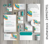 white corporate identity... | Shutterstock .eps vector #249937951