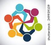 unity people design  vector... | Shutterstock .eps vector #249939109