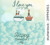 stylish romantic background in... | Shutterstock .eps vector #249943411