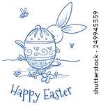 Funny Easter Bunny Hiding...