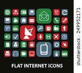 flat internet  website ... | Shutterstock .eps vector #249952171
