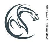 dragon abstract | Shutterstock .eps vector #249963109