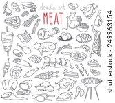 set of various doodles  hand... | Shutterstock .eps vector #249963154