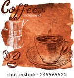 template with coffee.... | Shutterstock .eps vector #249969925