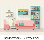 living room and dining room... | Shutterstock .eps vector #249971221