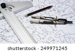 preparation for drafting papers ... | Shutterstock . vector #249971245
