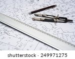 preparation for drafting papers ... | Shutterstock . vector #249971275