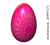 Easter Egg Isolated On The...