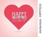 valentines day design  vector... | Shutterstock .eps vector #249973114